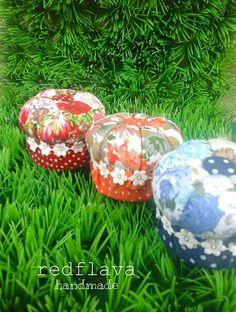 Pincushion dari tutup galon, diy,handmade, fabric, made by me