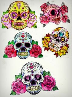 Sugar Skull and roses by *Slabzzz on deviantART