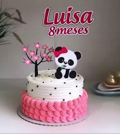 Birthday Cake For Cat, Panda Birthday Party, Panda Party, Baby 1st Birthday, Baby Shower Items, Baby Shower Cakes, Bolo Panda, Panda Cakes, Fake Cake