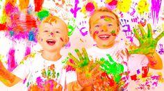 Играем вместе. Пальчиковые краски. Развитие ребенка и Детское творчество...