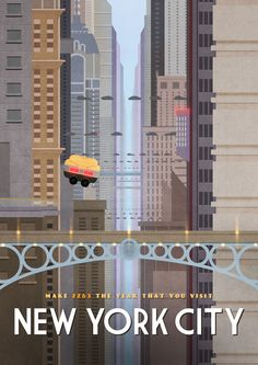 """The Fifth Element"" New York City Travel Poster"