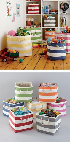 For the Home: Stripes Around the Cube Bin