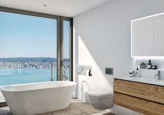 STOMEO Visualisierungen Clawfoot Bathtub, Bathroom, Architecture Visualization, Real Estates, Floor Layout, Room Interior, Bathing, Washroom, Bathrooms