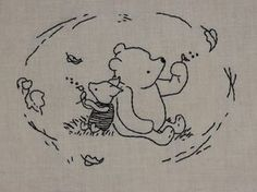 piglet & pooh #embroidery #pattern