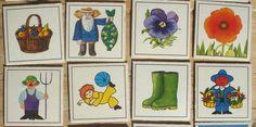 Vintage memory kaarten, 21 stuks, 1981, 5,5 x 5,5 cm, Ravensburger, karton, hobbymateriaal  [b] by LabelsAndMore on Etsy