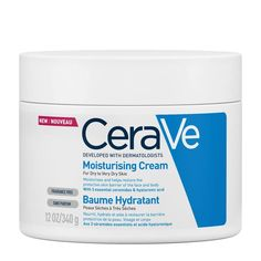 Developed with dermatologists, CeraVe Moisturizing Cream provides all day hydration for dry to very dry skin while helping to restore the protective skin barrier.<br /> <br /> This rich, non-greasy cr... Cream For Dry Skin, Skin Cream, The Ordinary Niacinamide, Jelsa, Good Skin, Face And Body, Natural Skin, Moisturizer, Contouring