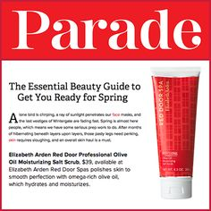PARADE Magazine has the essential beauty guide to get you ready for spring!  Our Olive Oil Moisturizing Salt Scrub made a knockout appearance in this feature, and it's ready to polish and shine your skin to springtime perfection.
