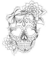 Image result for totenkopf tattoo vorlage einfach