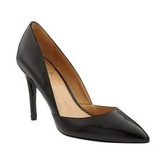 Banana Republic Womens Damsel D'orsay Pump ($99) ❤ liked on Polyvore featuring shoes, pumps, black, metallic shoes, black shoes, black pumps, black dorsay pumps and black patent shoes