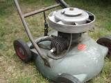 smoking lawn mower