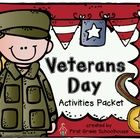 Veterans Day Activities Packet includes activities to learn about and celebrate Veterans Day.  The packet includes:  1. Cover   2. Description   3....