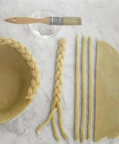Braided pie crust. I love this.
