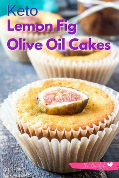 These low carb Lemon Fig Olive Oil Cakes are the perfect mini-cakes for a potluck! Make the healthier keto Lemon Fig cakes and impress your family and friends with a healthy and unique ketogenic dessert #lemonfigcake #lemonfigoliveoilcake #ketocake Ketogenic Desserts, Ketogenic Diet, Fig Cake, Olive Oil Cake, Keto Cake, Keto Meal Plan, Mini Cakes, Keto Recipes, Lemon