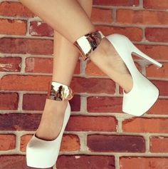 gold and white|bold and bright | Shoes so Sexy 1 | Pinterest