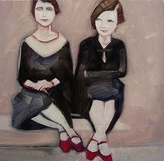 sisters...w red shoes. :)