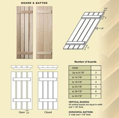 cottage style shutters exterior | Exterior Board and Batten Panels