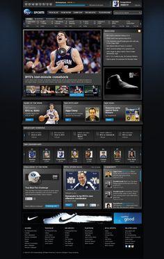 BYUtv sports interface.