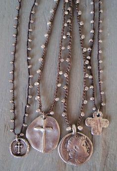 Sterling Silver artisan Cross Crochet necklace 'PURE by slashKnots, $90.00