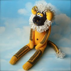 Three years ago, Kade asked me for a sock lion for his birthday. That was his favorite animal at the time, and his favorite color was yellow...