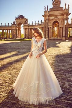 Wedding dress pink the lace
