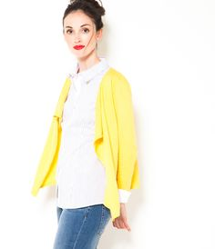 Gilet asymétrique jaune Camaïeu 2016