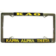Kappa Alpha Theta Sorority License Plate Frame