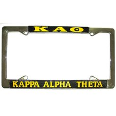 Kappa Alpha Theta Sorority License Plate Frame $14.95