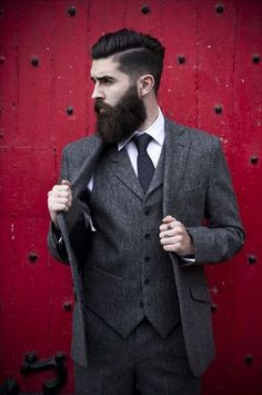 hairstyles for men with beards suits