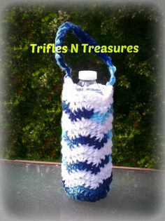 Rippling Waves Bottle Bag~FREE Crochet Pattern