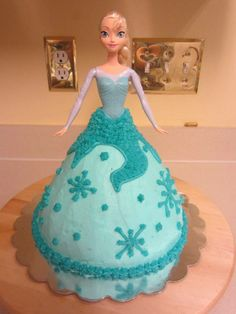 Frozen Elsa Cake  Gluten-Free Devils Food Cake with Vanilla Buttercream Frosting
