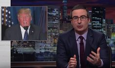 The Last Week Tonight host critiqued the president's notorious press conference and his false claims about Sweden's terrorist attack