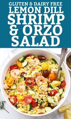 hominy casserole pioneer woman This fresh, easy shrimp orzo salad is perfect for warm weather. The lemon-dill dressing is divine! Shrimp Orzo, Crab Pasta, Tuna Salad Pasta, Shrimp Salad Recipes, Lemon Orzo Salad, Main Dish Salads, Dinner Salads, Gluten Free Orzo, Orzo Salat