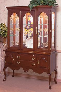 Dining room: Cherry Sideboard with Queen Anne Legs by Colonial ...