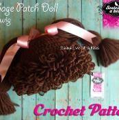 Cabbage Patch Hat/Wig Crochet Pattern - via @Craftsy
