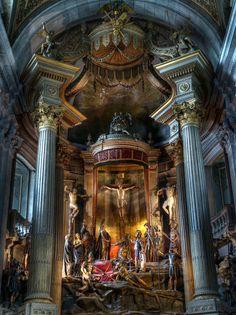 Altar igreja Bom Jesus, Braga, Portugal