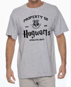 Property of Hogwarts Athletic Department Tee Harry Potter inspired t-shirt all sizes in gray by SewCalledLifeStore on Etsy https://www.etsy.com/listing/265496965/property-of-hogwarts-athletic-department