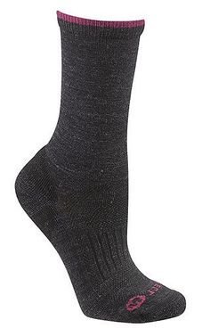 Merrell Women's Scamper Solid Sock by Merrell. $27.40. Ready to keep pace, this hiking crew will never fail on mountain missions. Using Merino ax soft merino wool with Nano GLIDE technology weaves micro channels of its extremely hydrophobic, durable and anti-friction fibers throughout the sock's fabric, eliminating bulk while delivering unprecedented dry, friction-free comfort. Durable, reinforced full footed cushioning, plus arch support.
