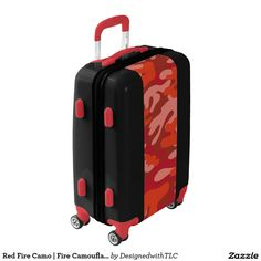 Red Fire Camo | Fire Camouflage Luggage