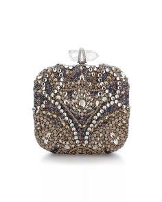 52f2ab88e7a Opal Stone Square Box Clutch by Marchesa Wedding Clutch, Beaded Bags, Gift  List,