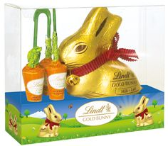 Gold Bunny and Carrots 140g #WinEasterChocolateWithLindt