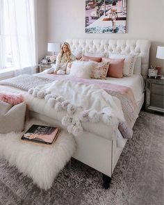 Pink bedroom decor - 91 cozy home decorating ideas for girls bedroom 81 Dream Rooms, Dream Bedroom, Home Bedroom, Girls Bedroom, Teenage Bedrooms, Bedroom Furniture, Girl Rooms, Deco Furniture, Furniture Plans
