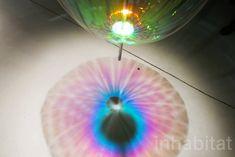Green Lighting, dutch design, Eindhoven, Design, Dutch Design Week 2016, Jetske Visser, Michiel Martens, floating soap bubbles, Reflecting HOLONS, Artspace MU, Glow Festival 2015, light reflecting art, Martens & Visser