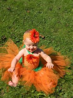 Baby TUTU Little Pumpkin Tutu Dress and Headband Perfect for Fall and Halloween Pictures or Halloween costume on Etsy, $38.00