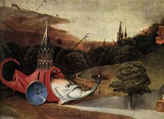 Triptyque de la Tentation de saint Antoine (détail) (10), huile sur panneau de Hieronymus Bosch (1450-1516, Netherlands)