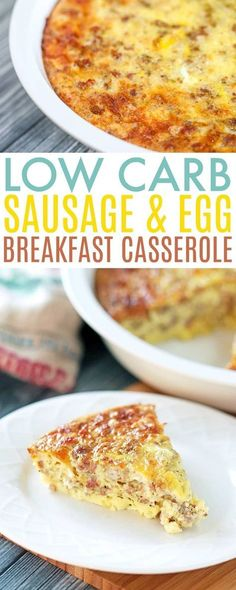 Low Carb Breakfast Casserole recipe - super easy and super versatile, this casserole makes it easy to add some variety to your keto or low carb meals.