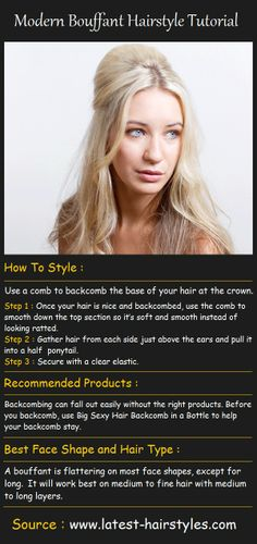 Modern Bouffant Hairstyle Tutorial | Beauty Tutorials