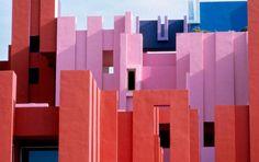 Ricardo Bofill - La Muralla Roja, in Calpe, Alicante, Spain (1973)