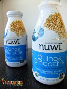 nuwi quinoa smoothie, gluten free, vegan and a source of complete protein!