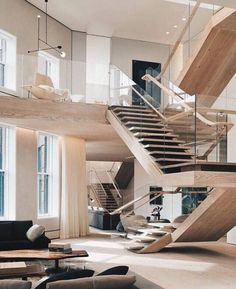 SoHo Loft / Gabellini Sheppard Associates LLP, 2014 AIA Institute Honor Awards for Interior Architecture Glass for Gymea Bay stairs Interior Design Minimalist, Modern Interior, Home Interior Design, American Interior, Room Interior, Studio Interior, Design Interiors, Luxury Interior, Exterior Design