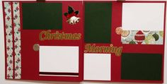 Christmas Morning 12x12 Premade Scrapbook Page by JensMemoryMakers on Etsy